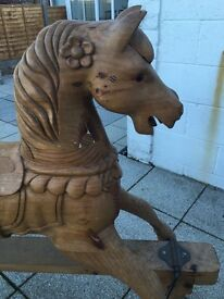 ROCKING HORSE 🐴🐴🐴 Beautiful hand carved solid wood 🐴 🐴🐴