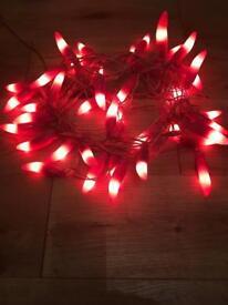 Beautiful set of 40 pink chilli lights approximately 23' feet long.