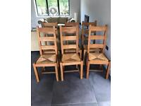 Oak dining chairs (6)