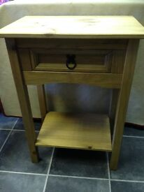 SOLID PINE TABLE WITH DRAWER IN VGC