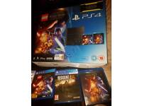 PS4 500GB console with 2 controllers