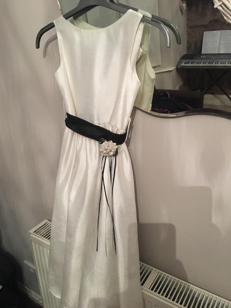 WHITE AGED 12 BRIDESMAID DRESS
