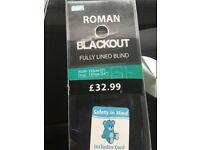 Brand New Black Roman Blind