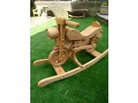 Motorcycle wooden rocker