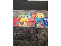 Percy Jackson books and David walliams books