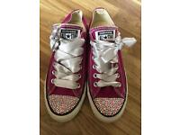 Fuchsia and Crystal Converse Size 6