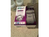 New bottles in packaging Avent natural
