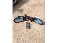 BMW 3 SERIES E90 E91 SILVER ELECTRIC FRONT WING MIRRORS AND SWITCH PRE FACELIFT