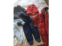 Snow suits and jackets