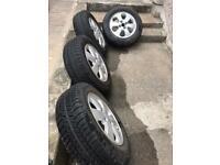 set of 4 alloy wheels legal tyres