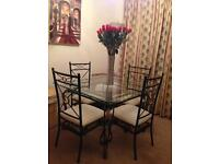 Dining Table and Four Chairs and matching Coffee Table
