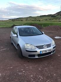 06 vw golf excellent condition
