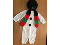 Toddler Snowman Costume 90 - 104cms