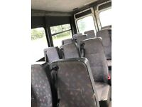 For sale 12 months mot 17 seater mini bus high top ideal for camper van project or mini bus use