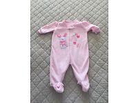Girl's Fleece Sleepsuit Size 0-3 Months