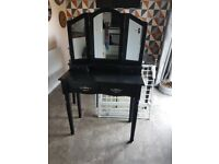 Black Dressing Table well used - possible upcycle project