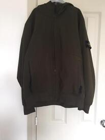 Stone island soft shell hooded men's jacket