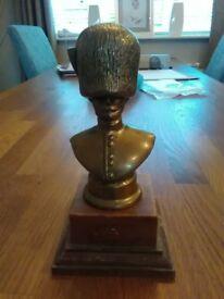 coldstream guardsman brass bust