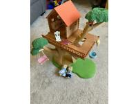 Sylvanian Families Tree House with furniture and figures