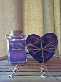 Handmade, Lavender Scented Candle & soap set, Vegan friendly, Valentines gift, by Heaven Senses
