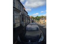 Peugeot 307 sw 7 seat estate 1.6 hdi (110 bhp) black 122,000k