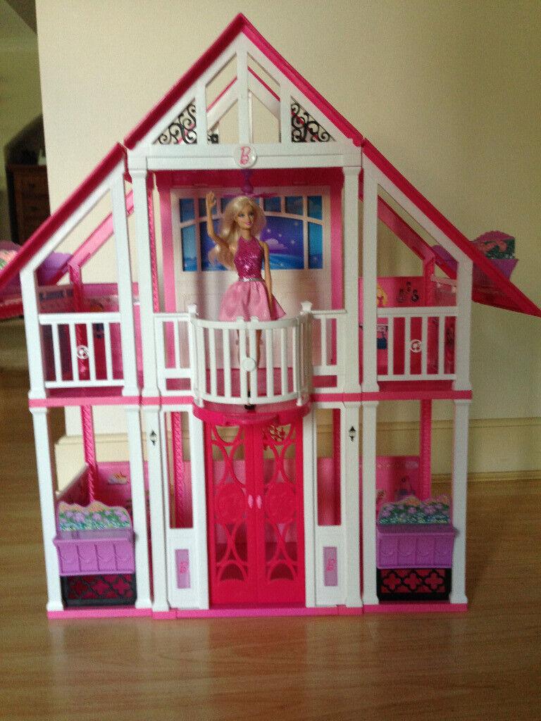 Barbie Doll Dream House 3 Storey Play Set With Elevator and Furniture +  Barbie | in Uxbridge, London | Gumtree
