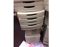 Office filing drawers - total of 8