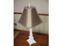 FRENCH CHIC - ORNATE TABLE LAMP STAND & SHADE (CAN DELIVER LOCALLY FOR FUEL COSTS)
