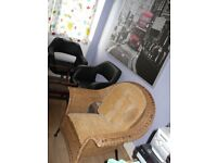 Vintage Rattan Wicker Boho Chair Osier Hand made good condition