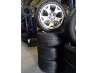 """GENUINE 19"""" TIGERCLAW BMW ALLOYS WITH 285 45 19s ON BACK AND 255 50 19S front ALL ALMOST BRAND NEW"""