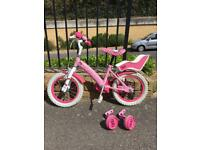 Hello Kitty Kids bike - with bell, stabilisers. Great condition.