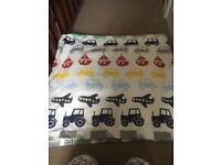 Toddler transport curtains and lamp shade