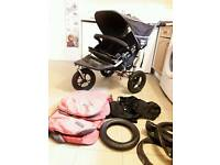 Out n about nipper 360 double pushchair 2 seater side by side