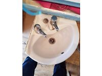 Corner sink and taps