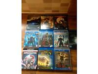 3D Blu ray dvds (all) collect only