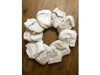 10 Little Lamb Bamboo nappies (size 3) + wraps