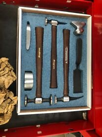 Snap on hammer and dolly set