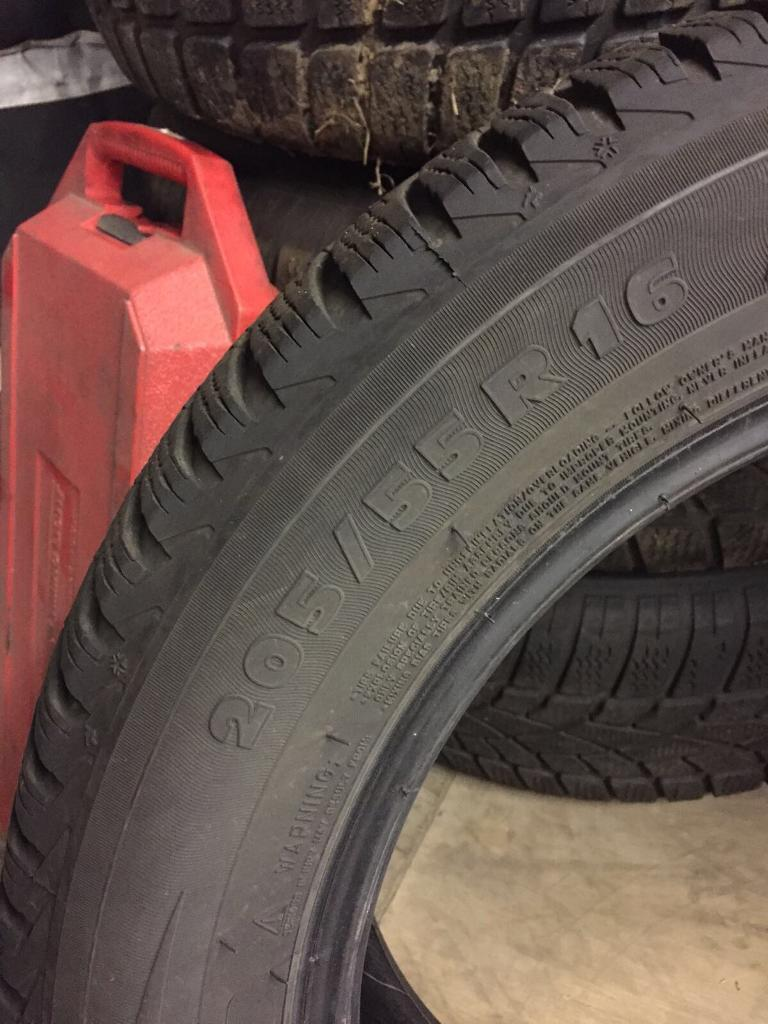 Michelin winter tyres 205/55/16