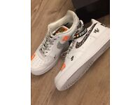 Nike Air Force 1 size 10 Bnwt anniversary just do it