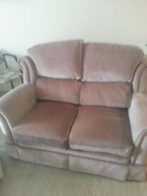 Small fabric 2 seater sofa