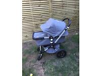 Bugaboo Chameleon 3 (carrycot and chair plus footmuff)