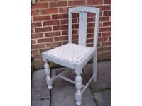 Fabulous Antique Style Chair painted in Flint Grey & reupholstered in any fabric of your choice x 1