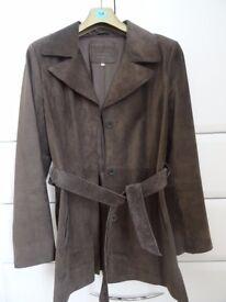Ladies Suede Jacket, 3/4 Length, Brown (Mole), Marks & Spencer