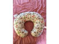 Boppy cotton feeding pillow - woodsie