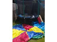 8ft Atlantic Trampoline. With ladder,all weather cover,colourful top cover tent