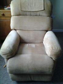 Lazyboy recliner, swivel armchair