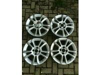 "Set of Vauxhall Corsa alloys 16"" 4x100"