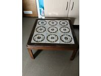 Retro / vintage tiled top coffee table £30