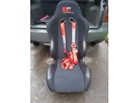 KEI Racing bucket reclining seats and space harnesses