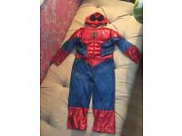 Boys Spider-Man costume age 3/4 years worn once
